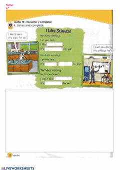 Interactive worksheet I like Science (03)