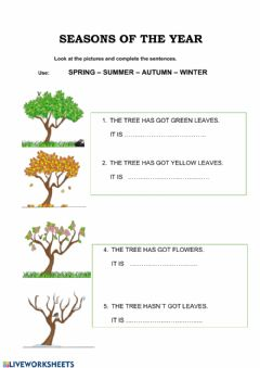 Interactive worksheet Andrea Season Trees
