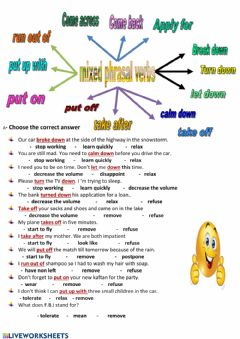 Interactive worksheet Phrasal verbs