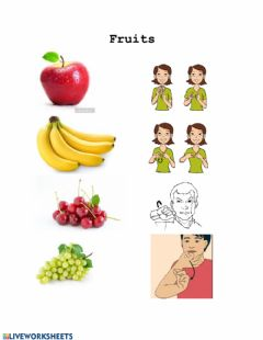 Interactive worksheet Fruits in ASL