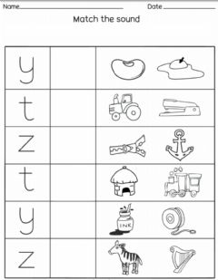 Interactive worksheet Letter Match Y