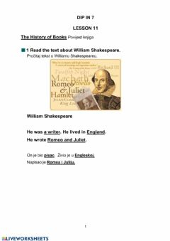 Ficha interactiva Shakespeare