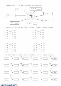 Interactive worksheet Calocolo orale