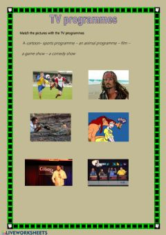 Interactive worksheet TV programmes2