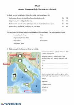 Interactive worksheet Italija