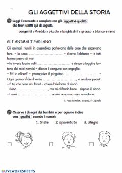Interactive worksheet Qualità