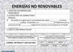 Interactive worksheet Energías no renovables