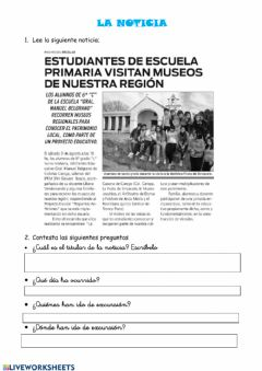 Interactive worksheet La noticia