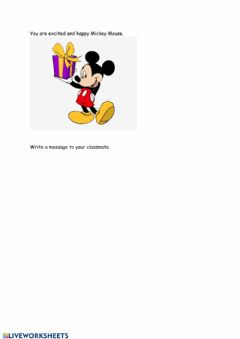 Ficha interactiva A message from Mickey Mouse