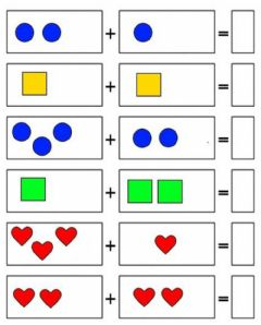 Interactive worksheet Zbrajanje do 5