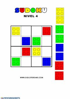 Interactive worksheet Sudoku lego