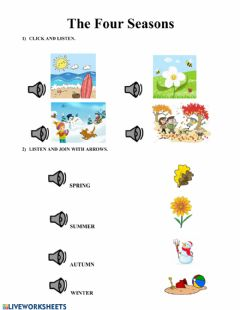 Interactive worksheet The four seasons