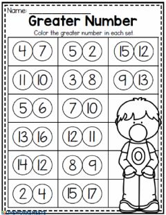 Interactive worksheet Greater Number