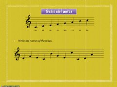 Interactive worksheet Treble clef notes