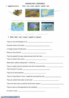 Interactive worksheet Social science-water