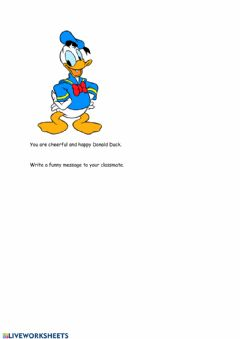 Interactive worksheet A message from Donald Duck