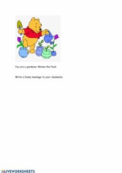 Ficha interactiva A message from Winnie the Pooh
