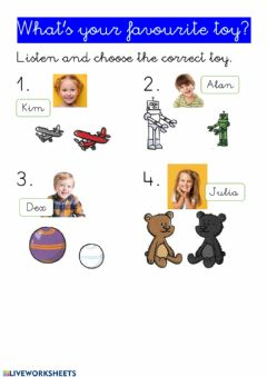 Interactive worksheet What's your favourite toy?