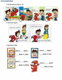 Interactive worksheet Gogo lesson whats his name