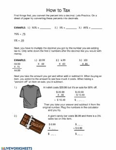 Interactive worksheet Taxes