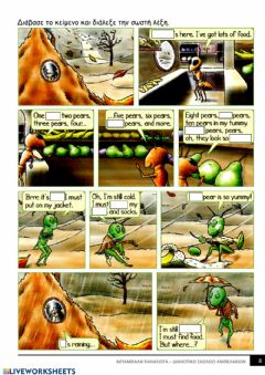 Interactive worksheet The ant and the cricket 2