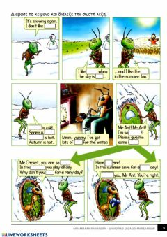 Ficha interactiva The ant  and the cricket 3