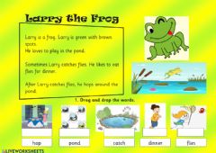 Interactive worksheet Reading larry the frog