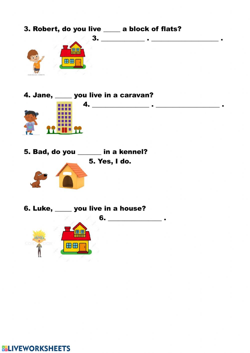 Where do you live? - Interactive worksheet
