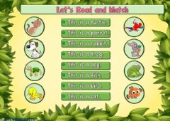 Ficha interactiva Let's Read and Match