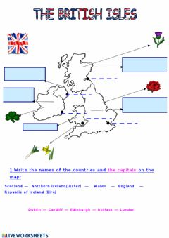Interactive worksheet The British Isles