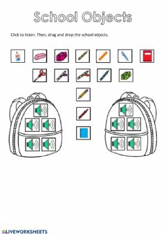 Interactive worksheet What's in my bag?