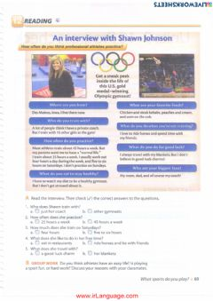 Ficha interactiva Unit 10: What sports do you play? 12 Reading