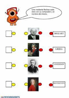 Interactive worksheet Compositores Musicales