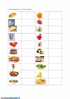 Interactive worksheet La comida
