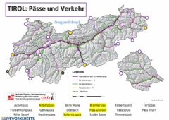 Ficha interactiva Tirol: Pässe und Verkehr (Drag and drop)