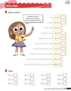 Interactive worksheet 129- x1 taula