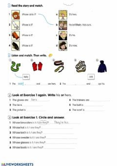 Interactive worksheet 4a30march