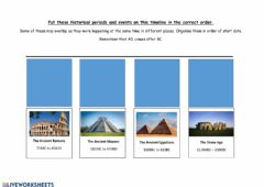 Ficha interactiva Ancient Civilisations Timeline
