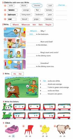 Interactive worksheet Review 3 - Family and Friends 1