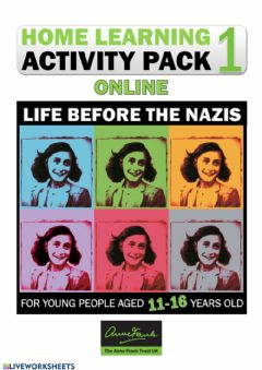 Ficha interactiva Home Learning Activity Pack 1 - LIFE BEFORE THE NAZIS