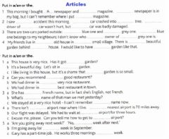 Interactive worksheet Articles: a-an-the