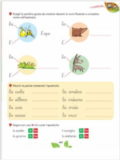 Interactive worksheet L'apostrofo