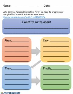 Interactive worksheet Personal Narrative Planning Graphic Organizer