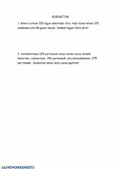 Interactive worksheet Buruktak 2