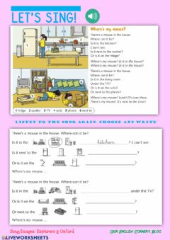 Interactive worksheet Where's my mouse?