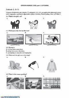 Interactive worksheet Mock exam 8 March 2020 part 1