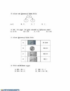 Interactive worksheet Matematik year 2 set 2