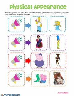 Interactive worksheet Adjectives for physical appearance