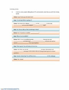 Interactive worksheet Vocabulary Technology