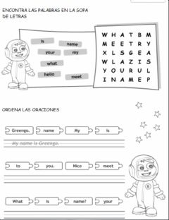 Interactive worksheet What is your name?